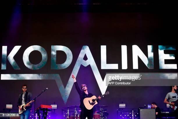 Irish band Kodaline performs at the 11th Alive Festival in Oeiras near Lisbon on July 8 2017 / AFP PHOTO / PATRICIA DE MELO MOREIRA