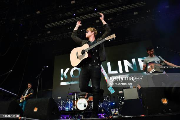 Irish band Kodaline performs at the 11th Alive Festival in Oeiras, near Lisbon, on July 8, 2017. / AFP PHOTO / PATRICIA DE MELO MOREIRA