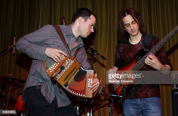 Irish band The Prodigals perform at the AMP Awards on April 24, 2004 at The Village in West Los Angeles, California.