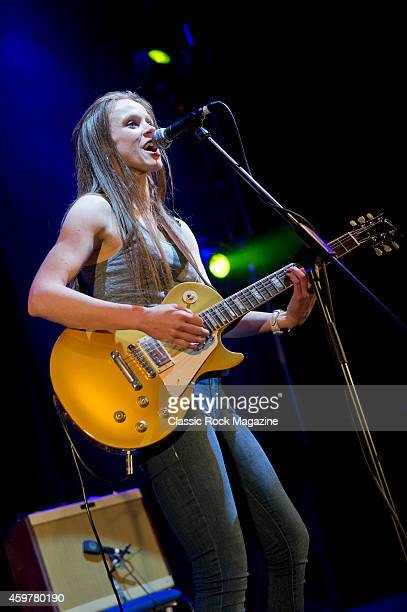 Irish blues rock musician Grainne Duffy performing live on stage at The Great British Rock and Blues Festival in Skegness on January 24 2014
