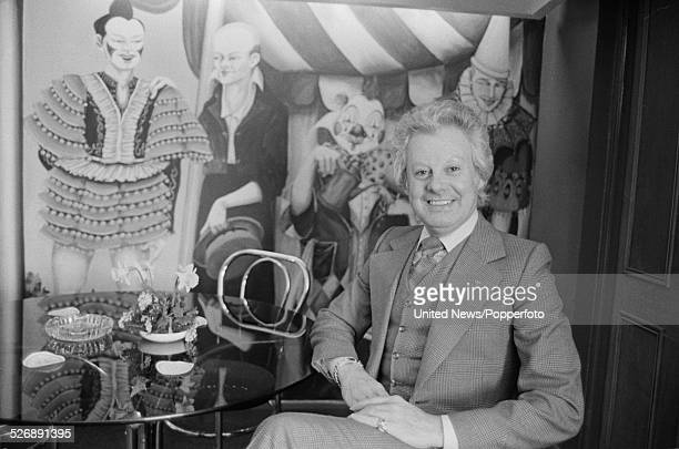 Irish born singer and entertainer Danny La Rue pictured inside his country house hotel Walton Hall in Warwickshire England on 14th April 1978