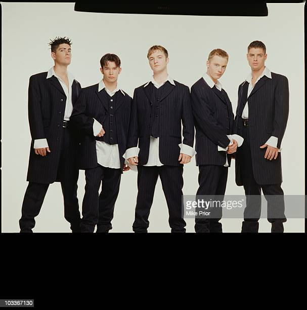 Irish boy band Boyzone pose for a group portrait in a London photographic studio in 1993 LR Shane Lynch Stephen Gately Mikey Graham Ronana Keating...