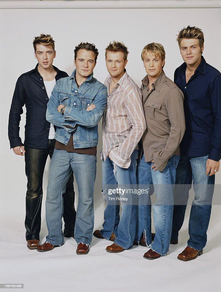Irish boy band Westlife, 2002  They are Nicky Byrne, Kian
