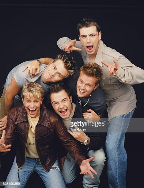 Irish boy band Westlife , circa 2000.