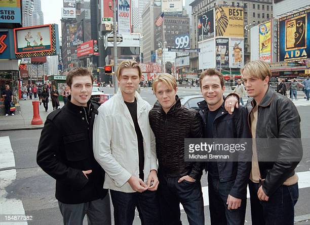 Irish boy band Westlife in Times Square New York City May 2000