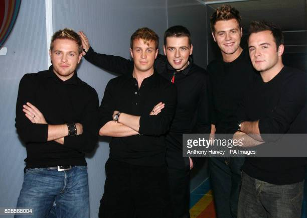 Irish boyband Westlife during their appearance on MTV's TRL UK show at the MTV Studio's in Camden north London