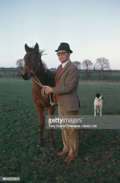Breeder Martyn McEnery with champion Thoroughbred steeplechaser racehorse 'Red Rum' 1975