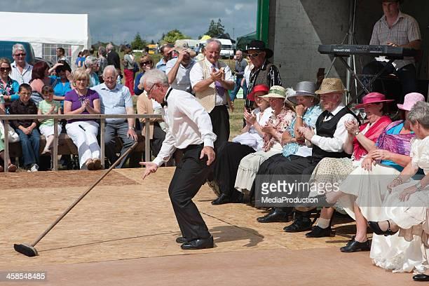Irish brush dance