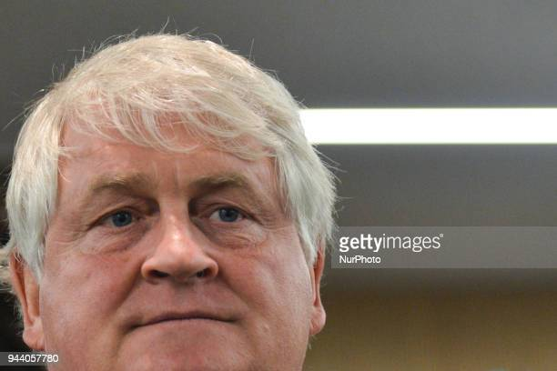 Irish businessman Denis O'Brien arrives in a UCD lecture hall to listen to former US President Bill Clinton give a speech on the eve of the 20th...