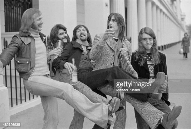 Irish Celtic rock group Horslips January 1974 Left to right Barry Devlin Charles O'Connor Jim Lockhart Eamon Carr and Johnny Fean