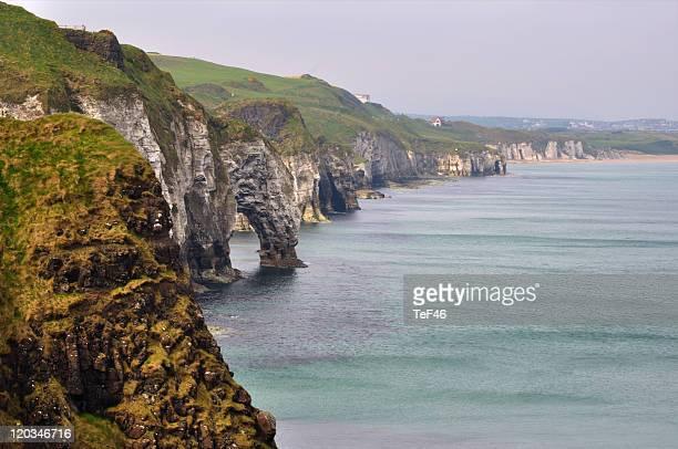 irish coast - dunluce castle stock photos and pictures
