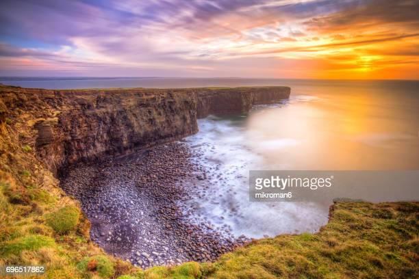 Irish coastline, Cliffs.