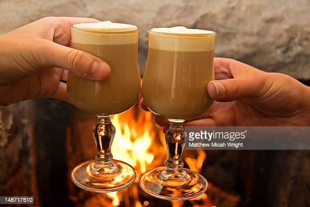 Irish Coffee by fireside.