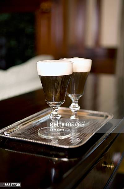 irish coffee - coffee drink stock pictures, royalty-free photos & images