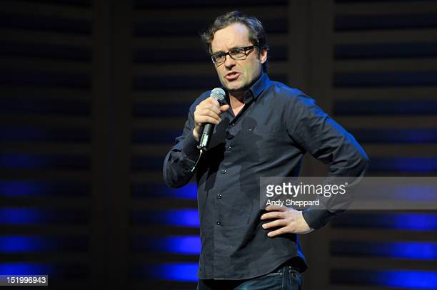Irish comedian Ardal O'Hanlon performs on stage during Kings Place Festival 2012 at Kings Place on September 14 2012 in London United Kingdom