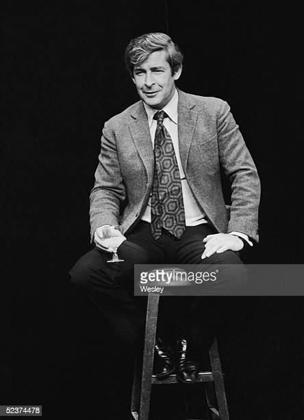 Irish comedian Dave Allen on stage at the Vaudeville Theatre London 19th September 1978
