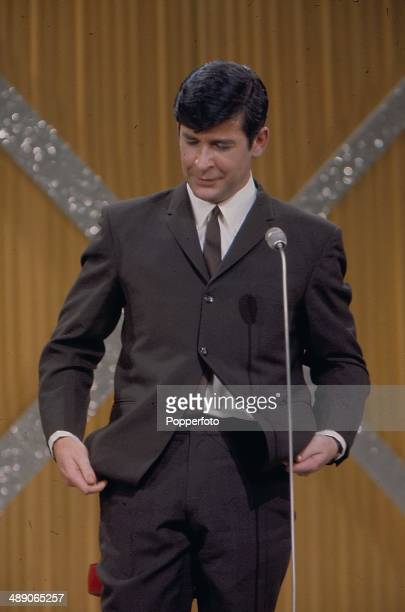 1968 Irish comedian Dave Allen performs on stage at the Palladium show in London in 1968