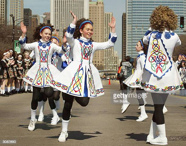 Irish dancers perform in the St Patrick's Day parade on March 13 2004 in Chicago Illinois St Patrick's Day officially arrives March 17