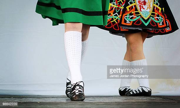 irish dancers - irish culture stock pictures, royalty-free photos & images