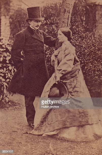 Irish dramatist and actor Dion Boucicault with his wife Agnes