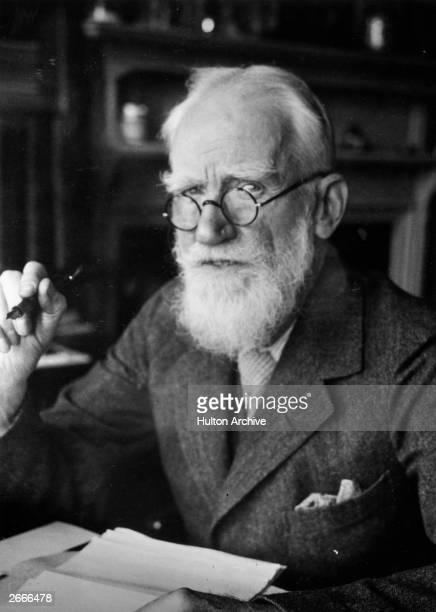 Irish dramatist essayist critic pamphleteer and vegetarian George Bernard Shaw