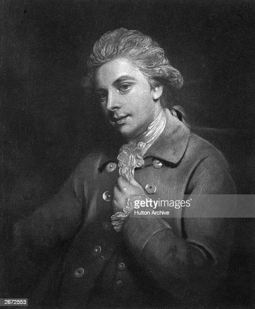 Irish dramatist Richard Brinsley Sheridan Original Artwork Engraving by Walker Cockerell after Joshua Reynolds