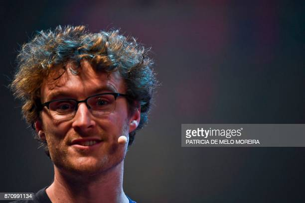 Irish entrepreneur and Web Summit cofounder Paddy Cosgrave delivers a speech during the opening ceremony of the 2017 Web Summit in Lisbon on November...