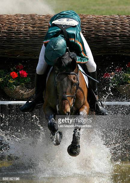 Irish equestrian Jonty Evans competes on Cregwarrior during the Cross Country Test at The Lake Complex at the 2007 Mitsubishi Motors Badminton Horse...
