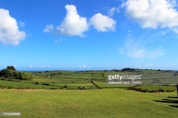 irish farmland and pastures - hill stock pictures, royalty-free photos & images