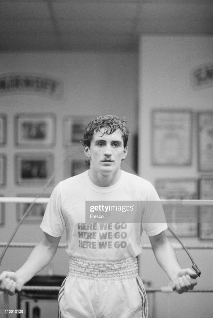 Irish featherweight boxer Barry McGuigan, 17th May 1985.
