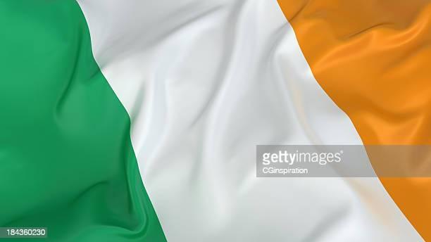 irish flag in green, white, and orange - irish flag stock pictures, royalty-free photos & images