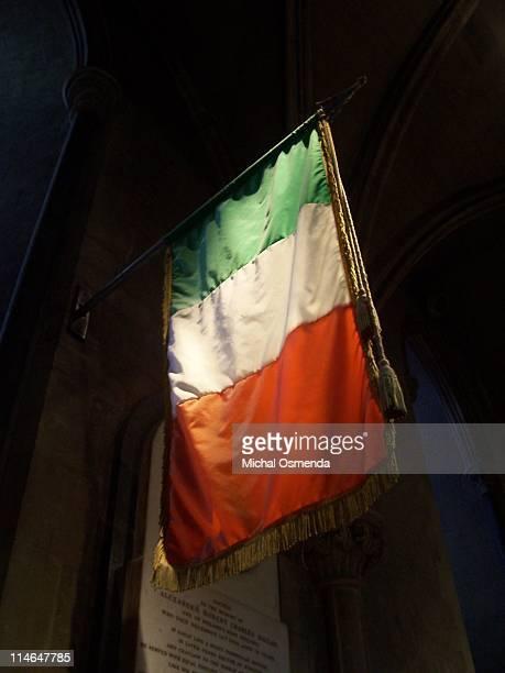 Irish flag in St. Patricks cathedral