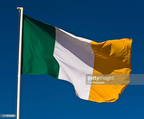 irish flag - pole stock pictures, royalty-free photos & images