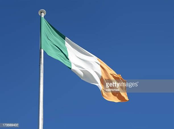 irish flag - dublin republic of ireland stock pictures, royalty-free photos & images