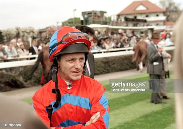 Irish flat racing jockey Pat Eddery circa 1996