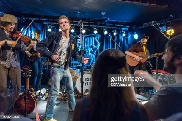 STREET DUBLIN DUBLIN IRELAND Irish Folk group Hudson Taylor perform in Whelans on Wexford Street
