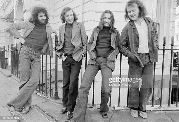 Irish folk group Planxty London 16th January 1973 Left to right Andy Irvine Liam O'Flynn Donal Lunny and Christy Moore