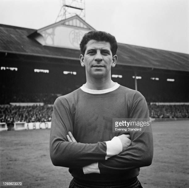 Irish footballer Andy McEvoy of Blackburn Rovers FC, UK, 1966.