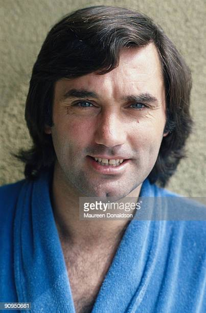 Irish footballer George Best , circa 1980.