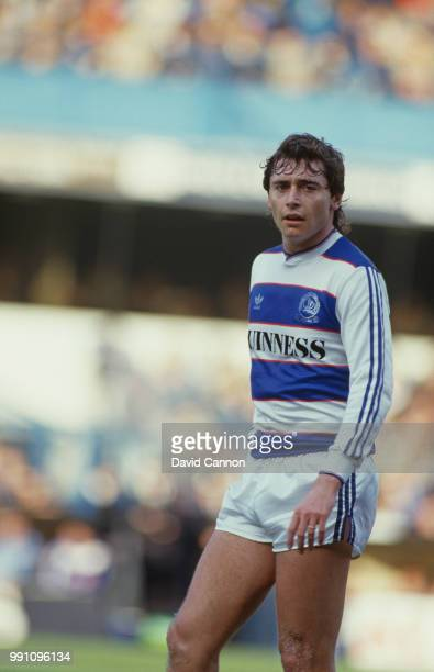 Irish footballer Michael Robinson on the field for Queen's Park Rangers in an English Football League match against Sunderland at Loftus Road London...