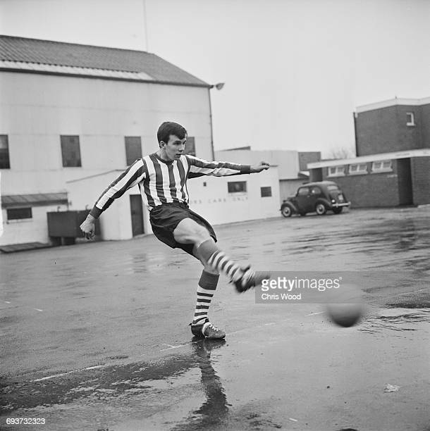 Irish footballer Tony Byrne of Southampton FC UK 29th January 1965
