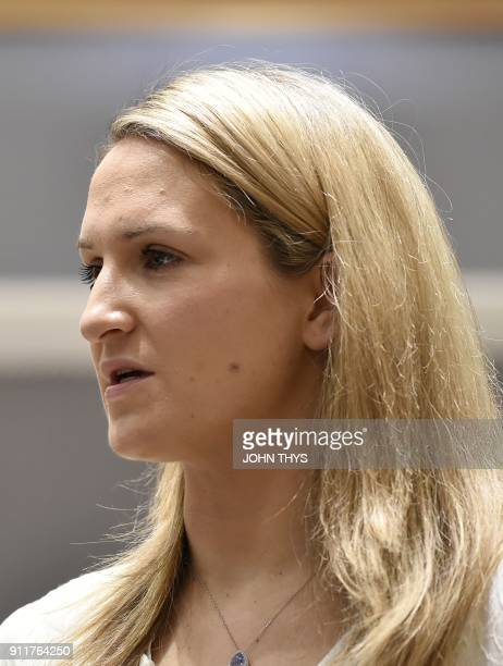 Irish Foreign Affairs Minister Helen McEntee looks on during a General affairs council debate on the article 50 concerning Brexit in Brussels at the...