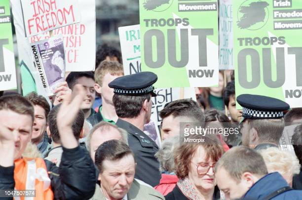Irish Freedom Movement attempts to hijack The Irish in Britain Rally for Peace Hyde Park London Sunday 4th April 1993 The Irish in Britain Rally for...