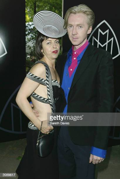 Irish hat maker Philip Treacy and stylist Isabella Blow attend the launch party for the new Mercedes Maybach luxury automobile at Portman Square June...