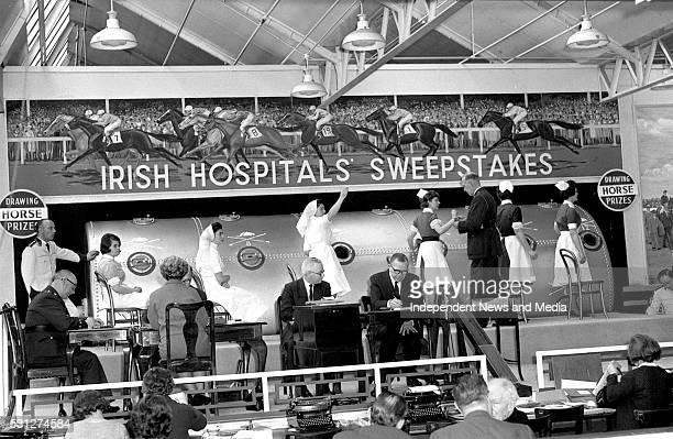 Irish hospital sweepstakes draw in Ballsbridge Dublin Photographer Tom Burke