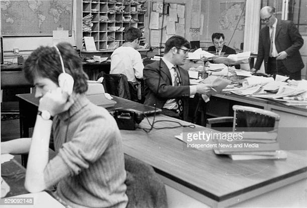 Irish Independent newsroom circa 1970's