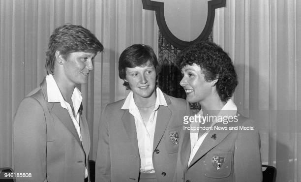 Irish ladies Golf Team who recieved the Cospoir/ Glen Abbey Hosiery Women in Sport Award in Jury's Hotel Philomena and Carol Wickham and Clare...