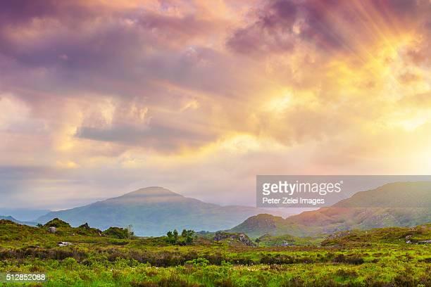 Irish landscape along the Ring of Kerry