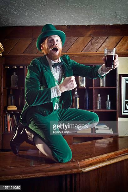 Irish / Leprechaun Character With Pint of Beer