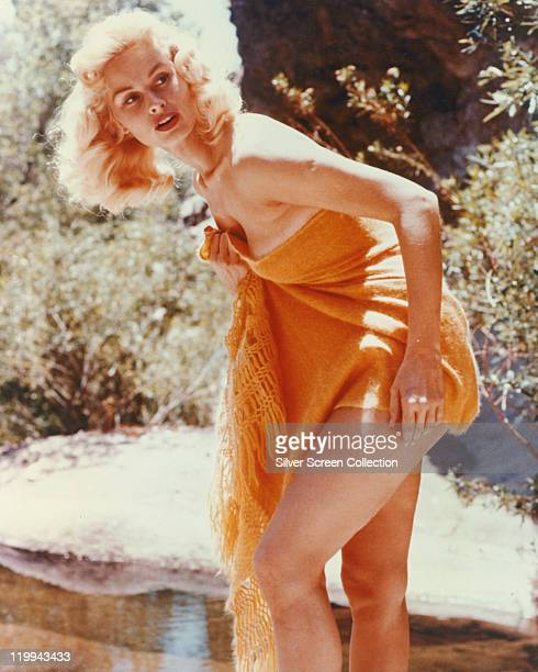 Irish McCalla US actress in a publicity still issued for the US television series 'Sheena Queen of the Jungle' USA circa 1955 The television drama...